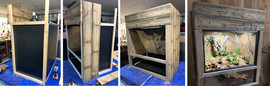 How to customize our custom reptile enclosures montage