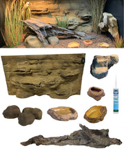 Alice Springs – 4 Foot Reptile Décor Kit - No Plants
