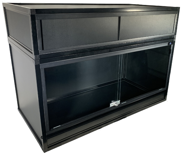 Essential 4 PVC & Aluminum Enclosure with Optional Hood - Black Frame