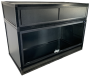 Essential 3 PVC & Aluminum Enclosure with Optional Hood - Black Frame