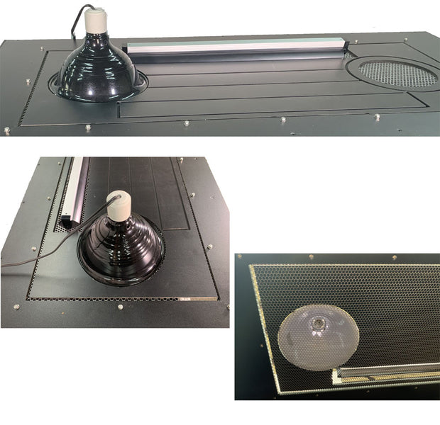 We have upgraded our screen top choices on all of our enclosures so now instead of being limited to just a 100% or just a 50%, the top PVC vent insert allows you to customize your top, for your own setup and reptiles needs.