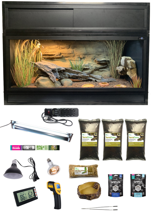 The Works - Complete Corn Snake Kit with Essential 4 Enclosure, Decor Kit and Hood