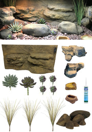 Rocky Canyon – 3 Foot Reptile Décor Kit