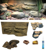 Rocky Canyon – 3 Foot Reptile Décor Kit - no Plants