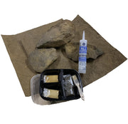 Silicon and touch up sand is included in the Three Dimensions 02- 3-Sided-Reptile-Background-Kit