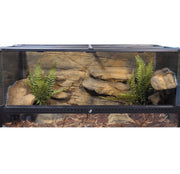 Snake Discovery 40 Gallon Tank Reptile Decor Kit - With Fern Plants