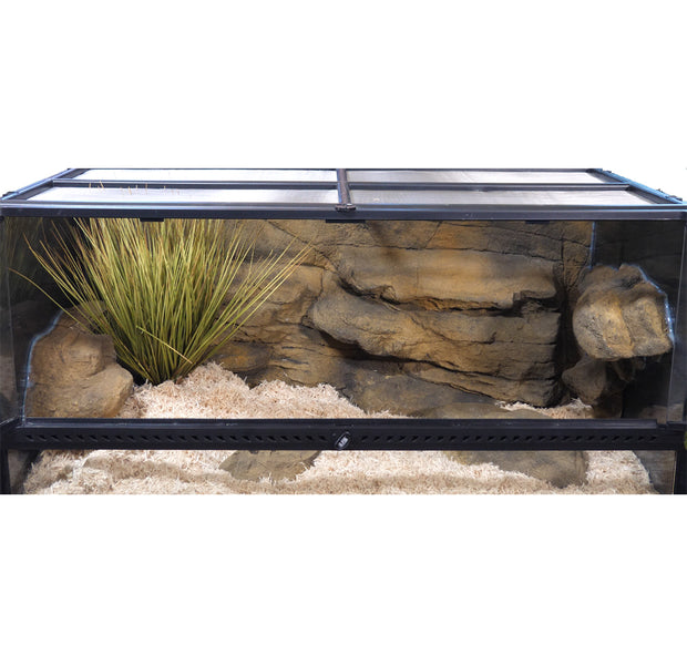 Snake Discovery 40 Gallon Tank Reptile Decor Kit - With Grass Plant