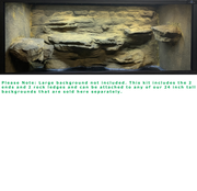 Three Dimensions 01- 3 Sided Reptile Background Kit