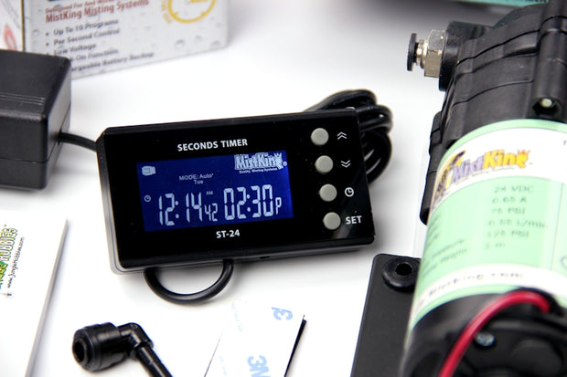 Closeup of the Starter Misting System seconds timer