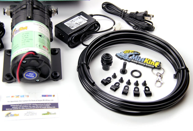 The Starter Misting System includes 15 feet of 1/4 inch tubing