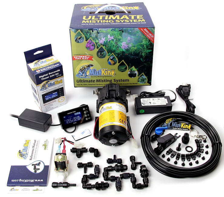 The Ultimate Misting System contains everything you need to install into your terrarium/vivarium