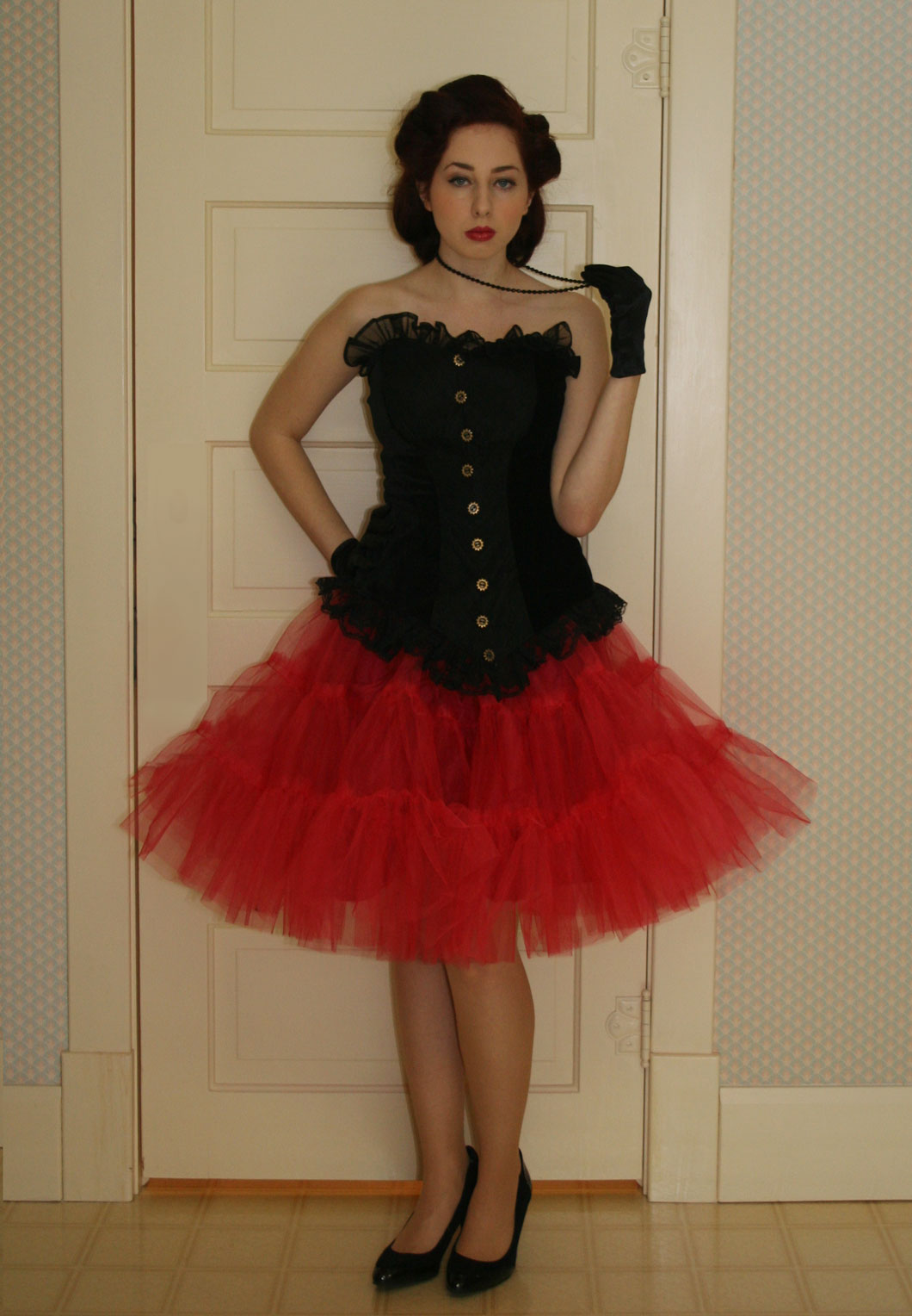 Red Pixie Tutu Skirt
