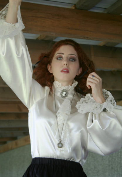 Satin and Lace Alice Paul Blouse