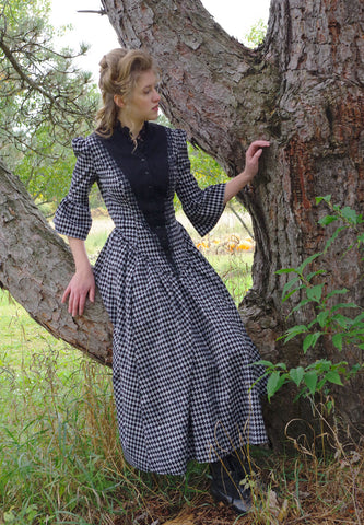 Victorian Diamond Print Dress