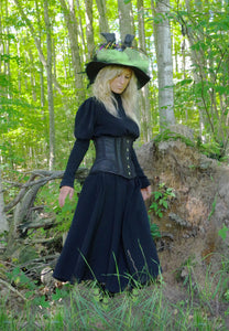 Black Cinched Witch Hunt Dress