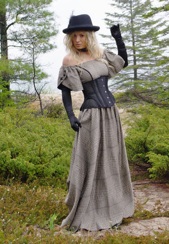 Victorian Gunslinger Dress and Corset Ensemble