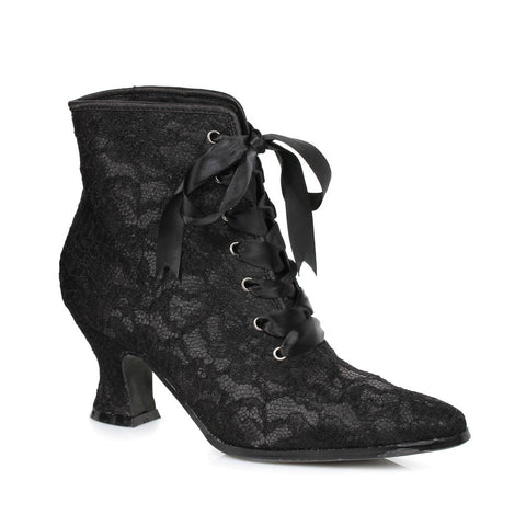 Black Lacy Ankle Boot