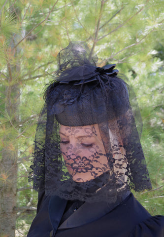 Steampunk Funeral Hat and Veil