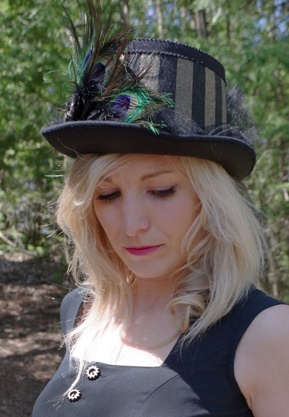 Bold and Gold Women's Steampunk Riding Hat