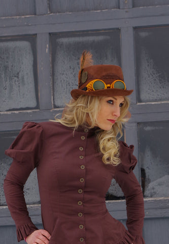 Steampunk Riding Cap