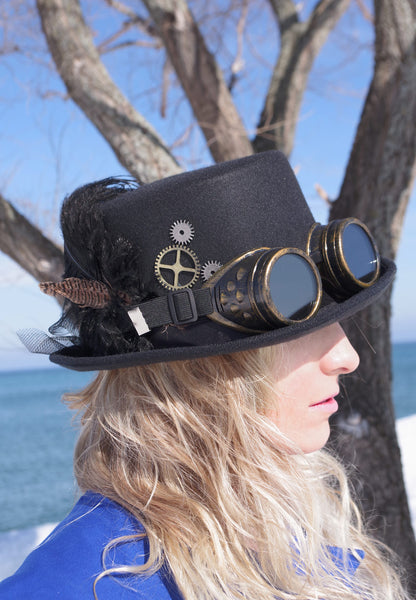 Black Mary Kingsley Hat and Goggles