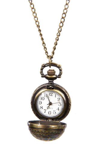 Travel Through Time Secret Pendant Watch