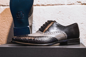 Black/Grey Monti Brogue