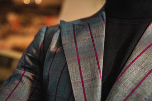 The Magenta Overcheck Blazer