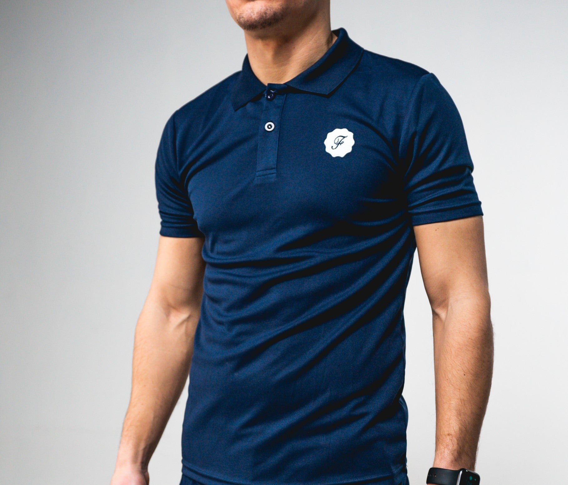 Signature Navy Golf Polo