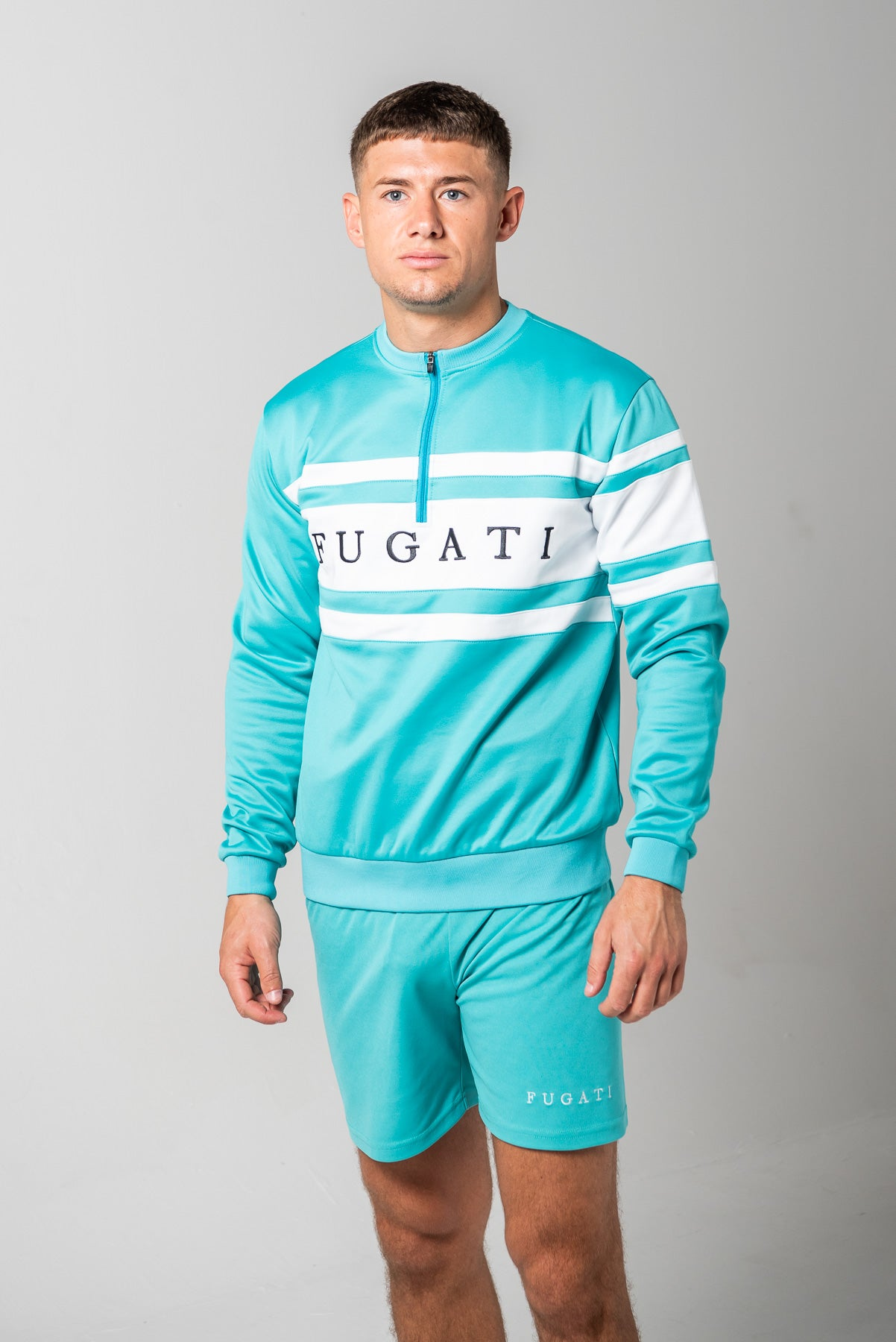 Teal 1/2 Zip Jumper