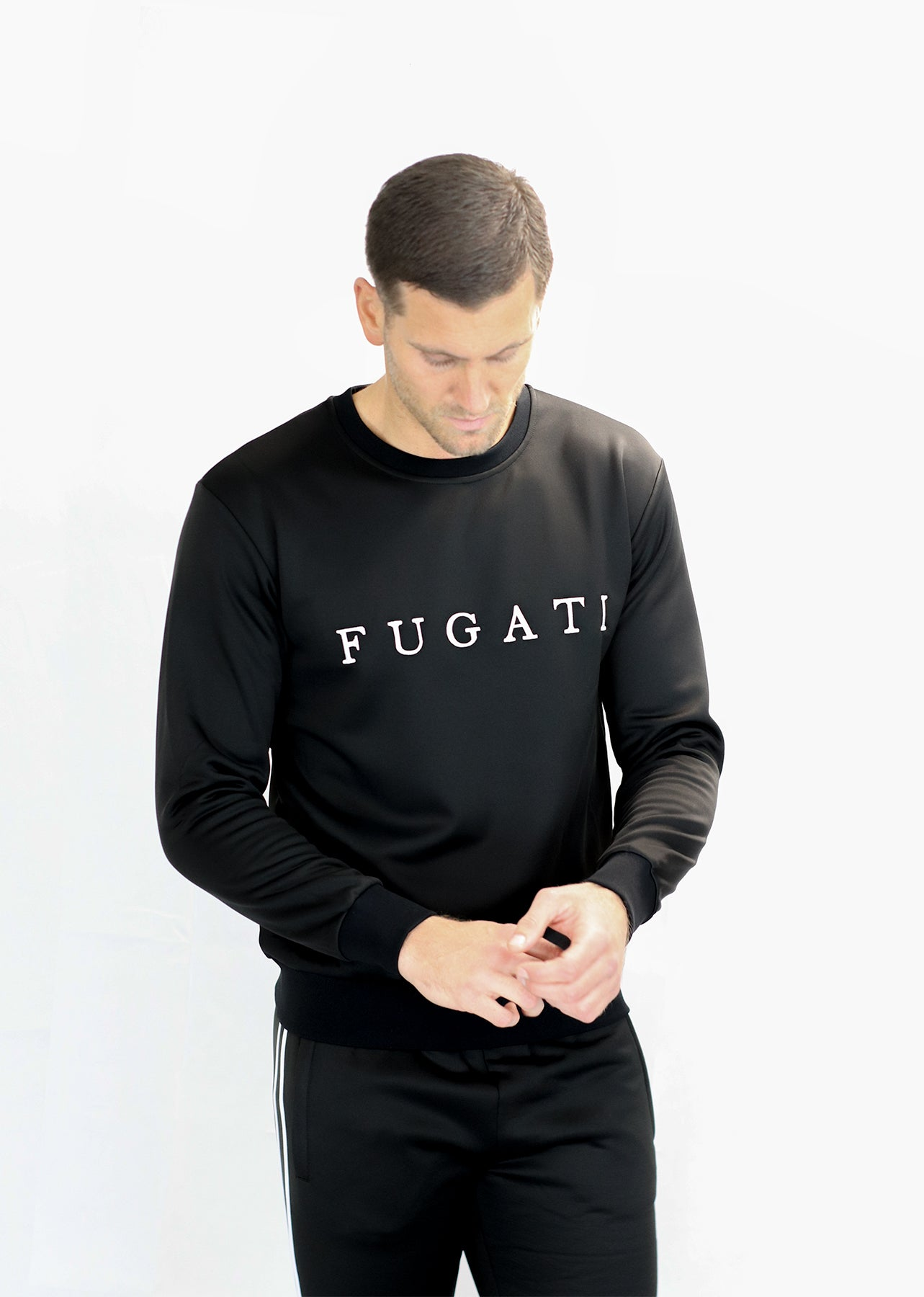 Black Tracksuit Jumper
