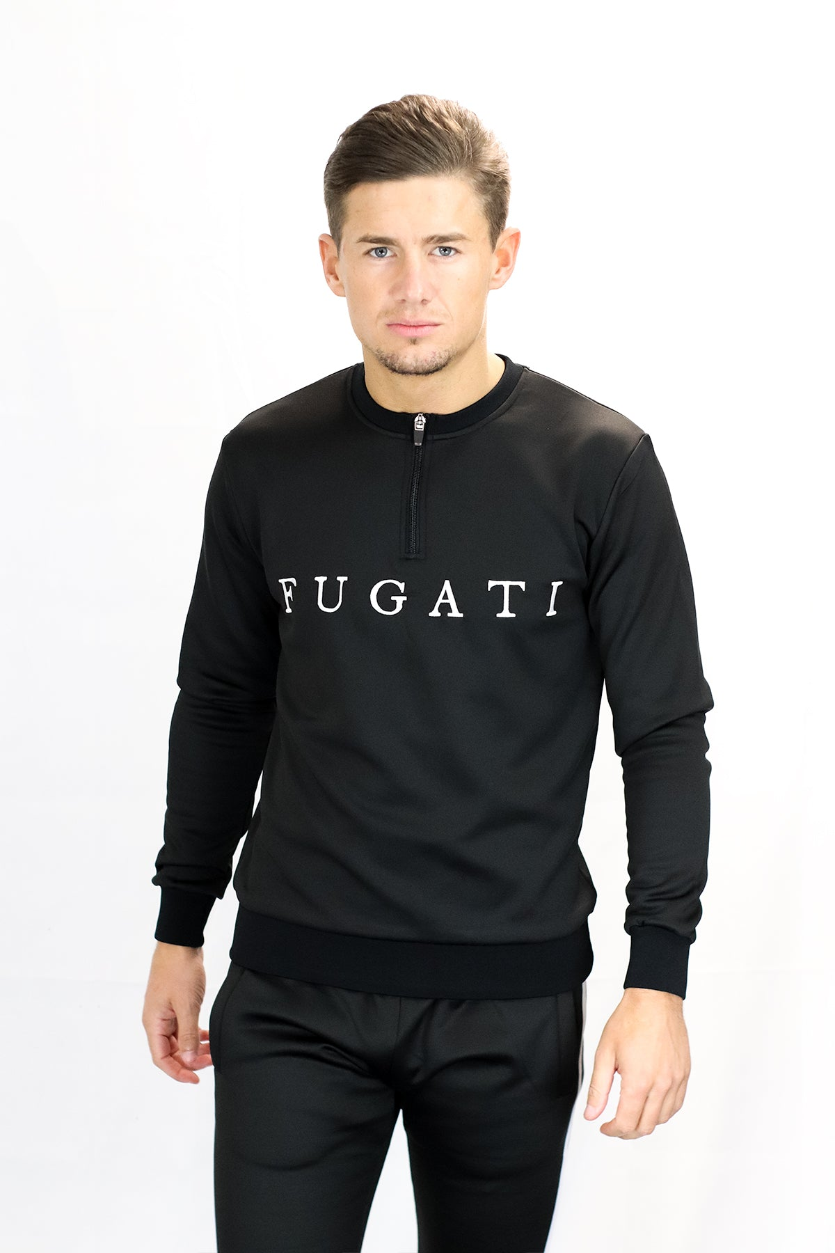 Black 1/4 Zip Jumper