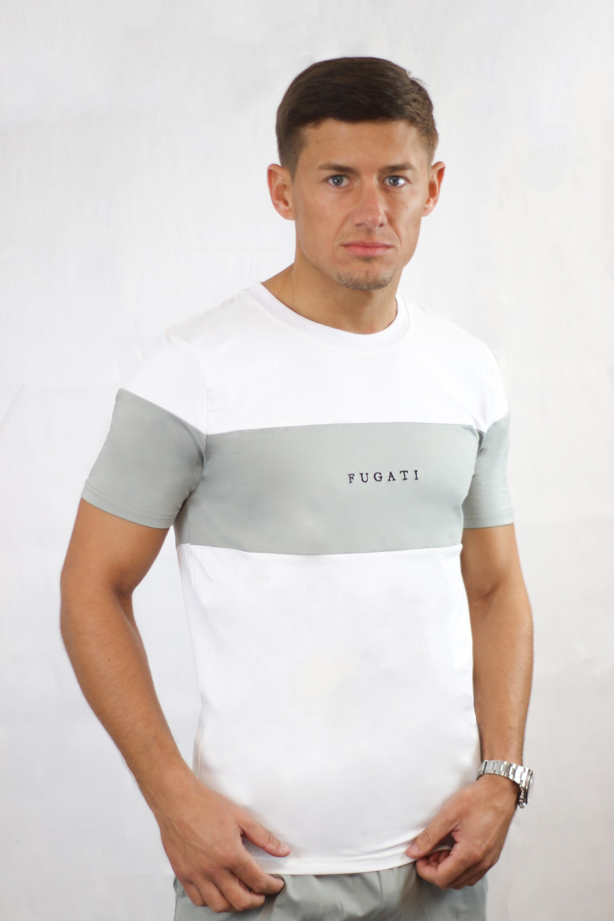 Fugati T-shirt - White/Grey