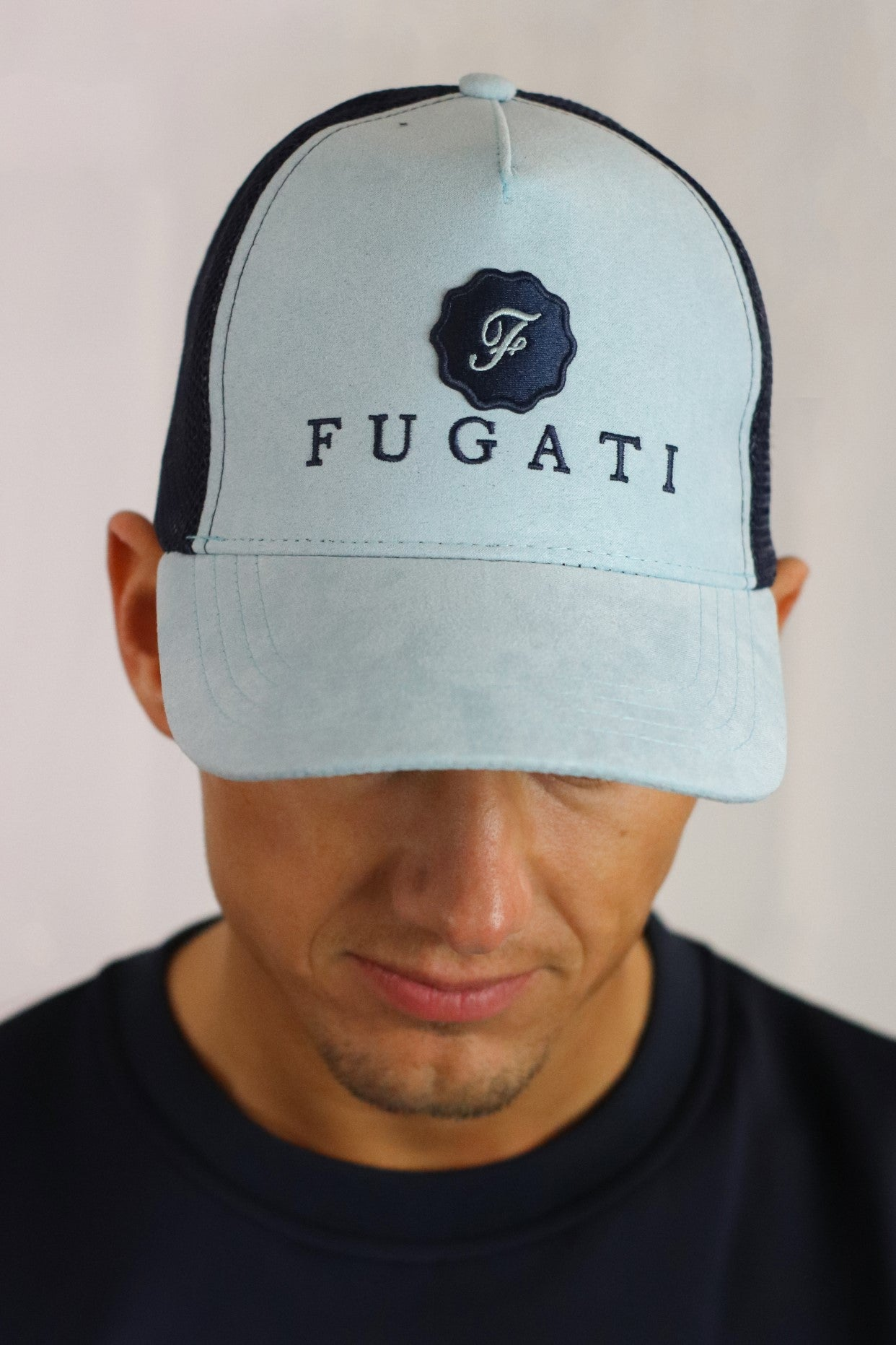 Navy Blue and Sky Blue Baseball Cap