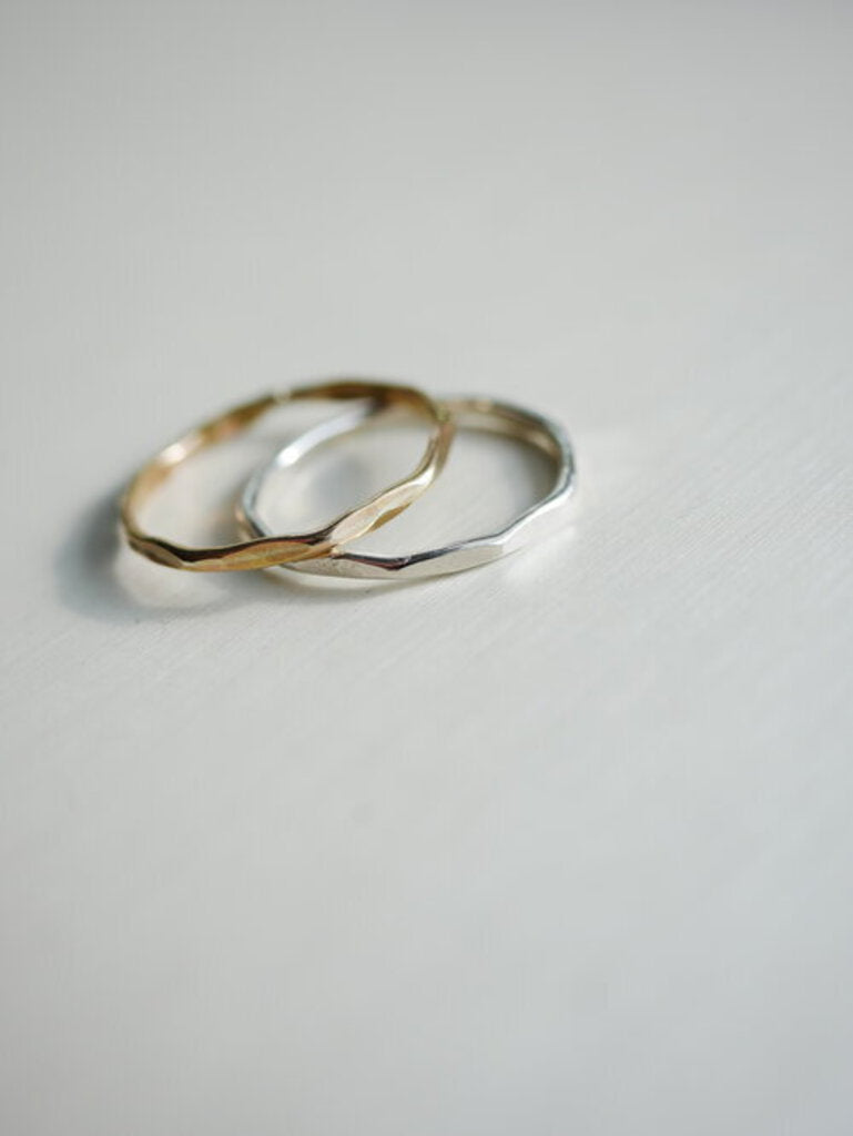 Hammered Stack Ring