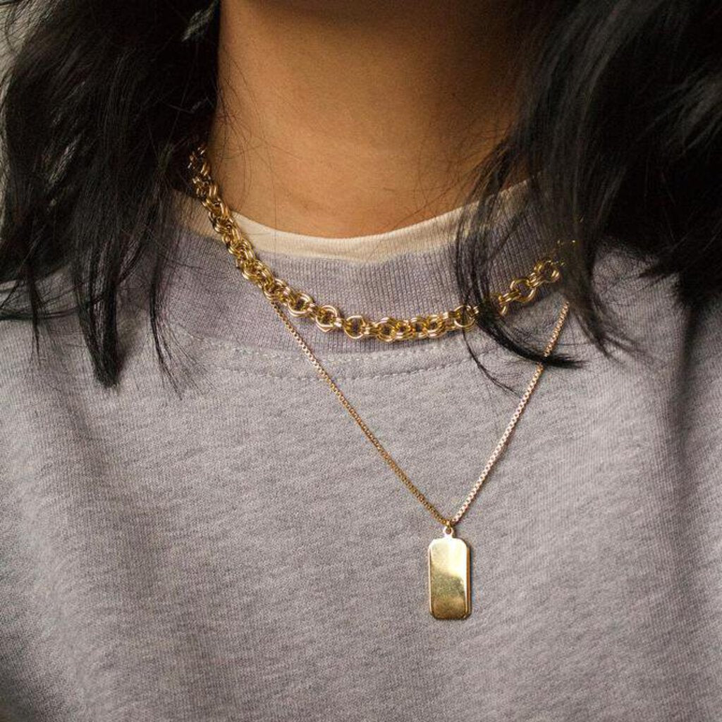 Rectangle Pendant Necklace