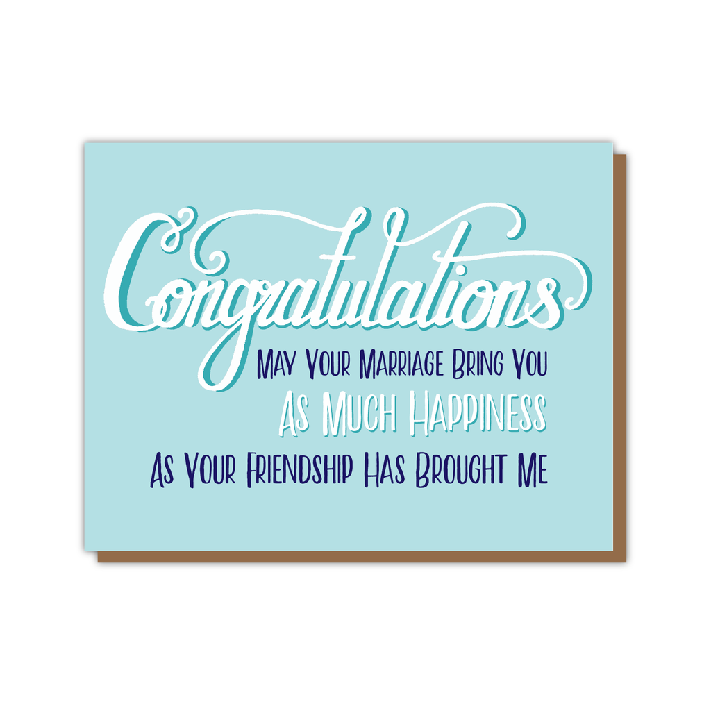 Congrats Marriage Friendship Card