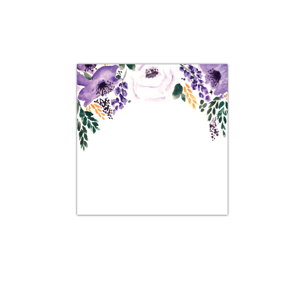 Purple Floral Sticky Notes