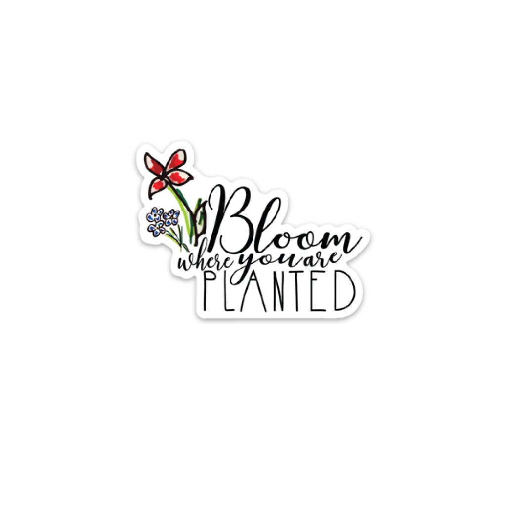 Bloom Where Planted Decal, mini