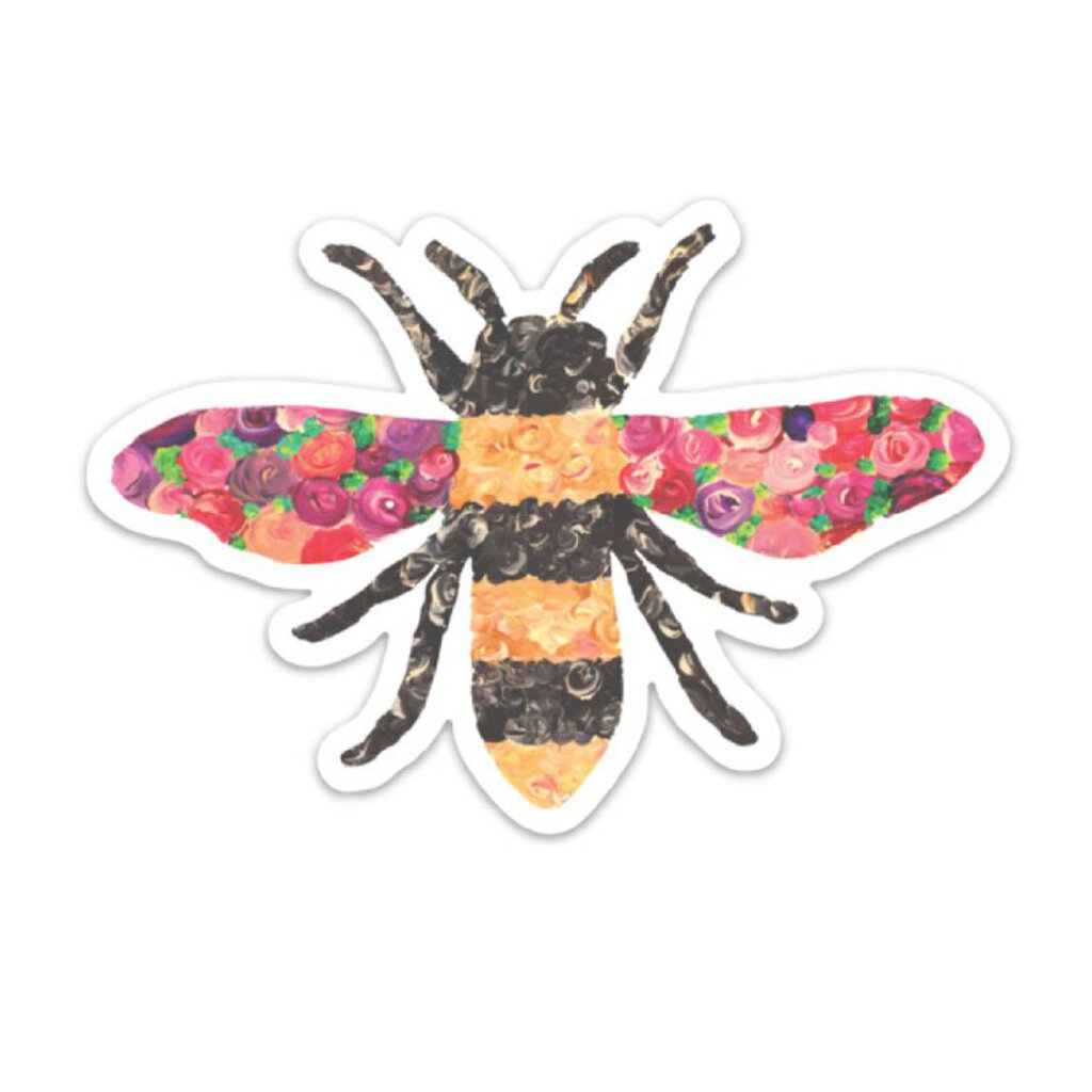 Bee Decal, floral, mini