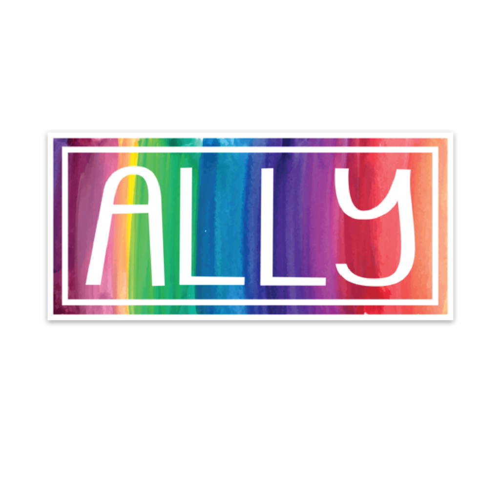 Ally Rainbow Decal, mini