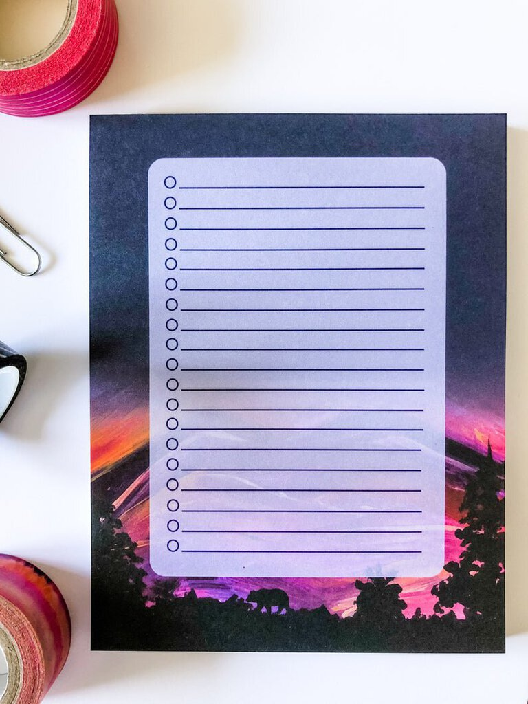List Notepad Mountain Silhouette, small