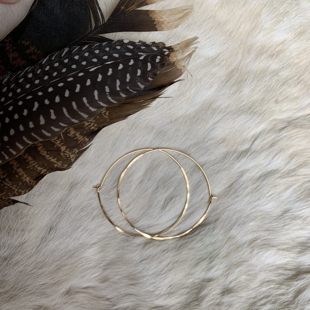 "Small 1"" Brass Hoops"