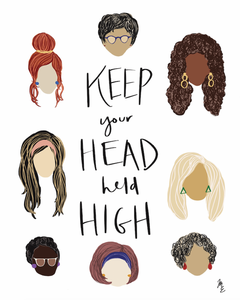 Head Held High Illustration Print