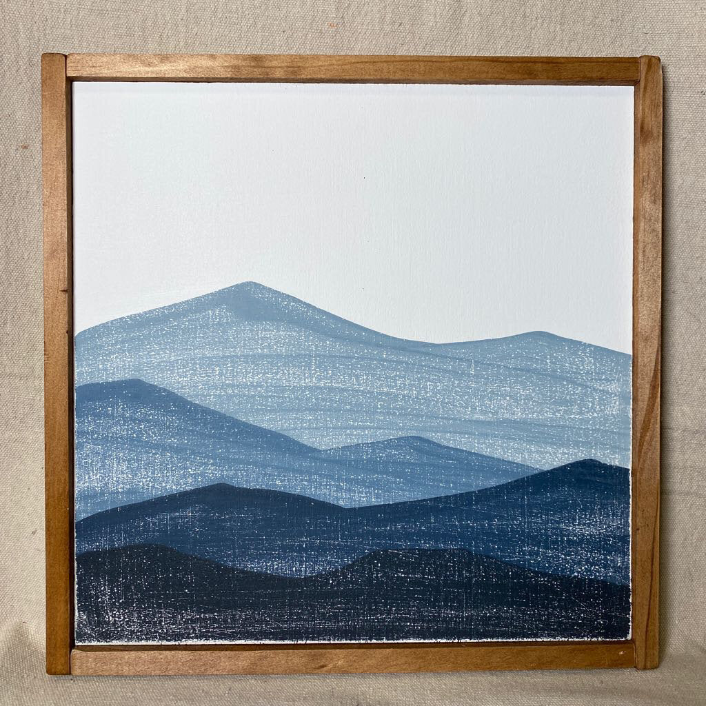 Blue Ridge Mountains Sign - 13x13