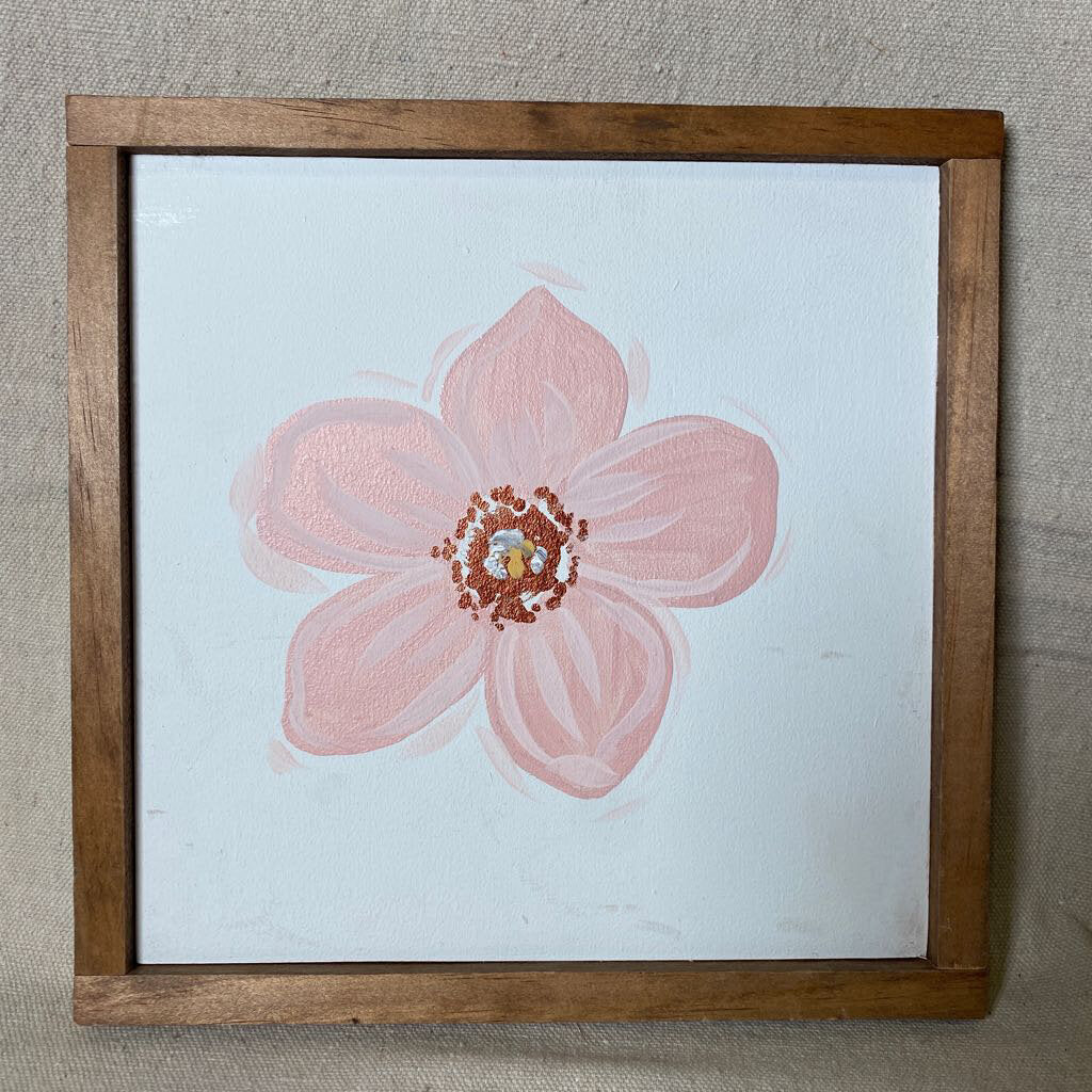 Single Flower Small Square Sign 9x9