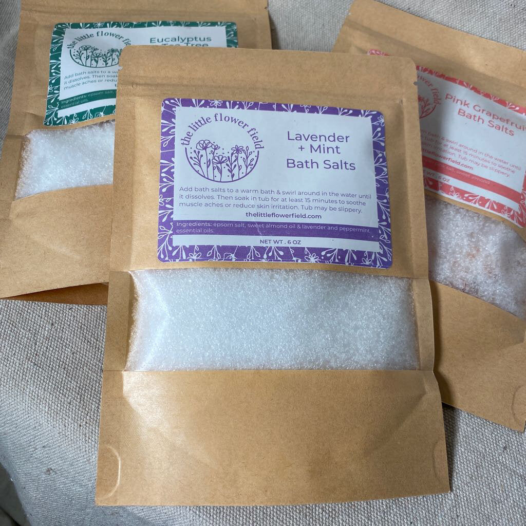 Bath Salt Paper Package - Lavender Mint