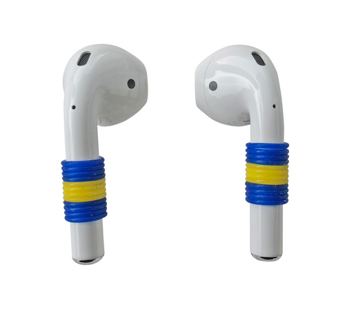 Blue Yellow Earpod Basics Schmuck