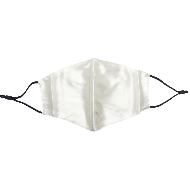 Silk Face Mask with Filter (White)