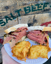 Load image into Gallery viewer, Classic salt beef on rye bread.